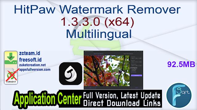 HitPaw Watermark Remover 1.3.3.0 (x64) Multilingual