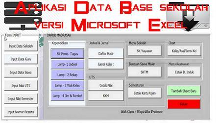 Download Aplikasi Data Base Sekolah Versi Microsoft Excel