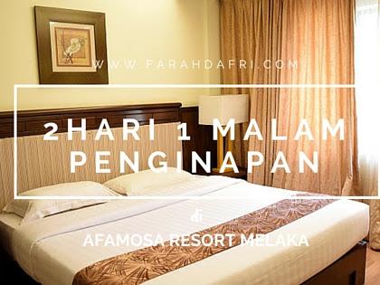 2 hari 1 malam penginapan di Condo D'Savoy , Afamosa Resort Melaka