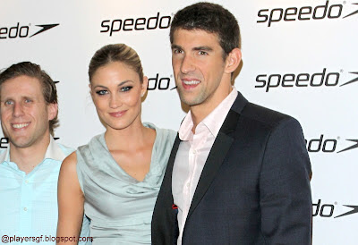 Micheal Phelps with his girlfriend Megan Rossee