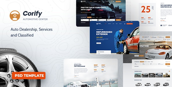 Best Car Dealership, Services & Classified PSD Template