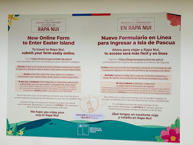Entry Form and Requirements to Travel to Easter Island