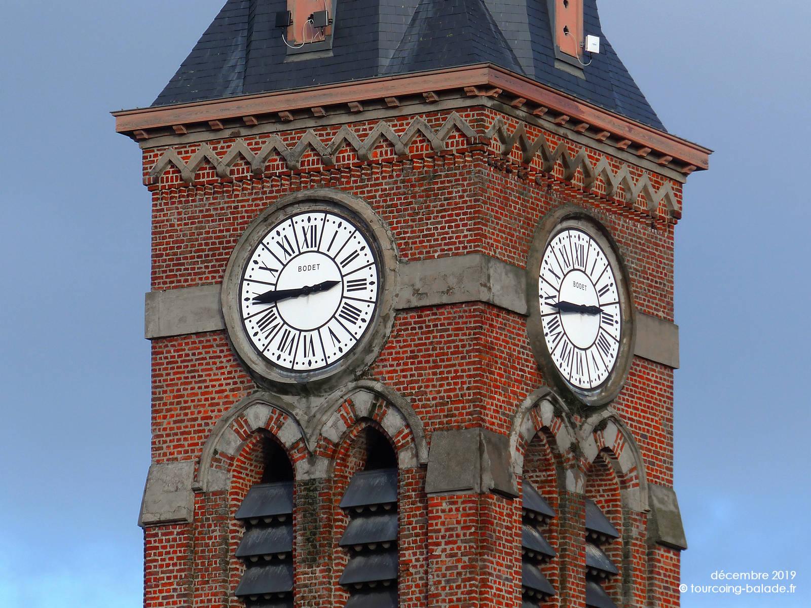 Horloge du Clocher de l'église Saint-Alphonse, Halluin