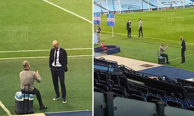 champions league 2020 : Zidane and Guardiola after the game