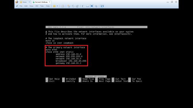 Konfigurasi IP Address Debian GNU/Linux
