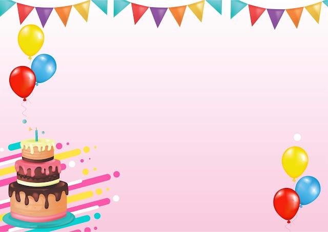 kartu ucapan ulang tahun pink