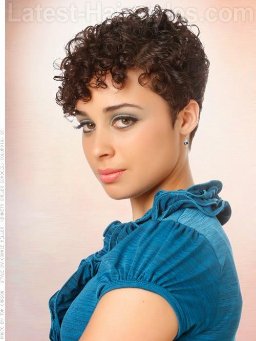 Cortes de pelo corto – Corte de pelo corto Pixie rizado 2014