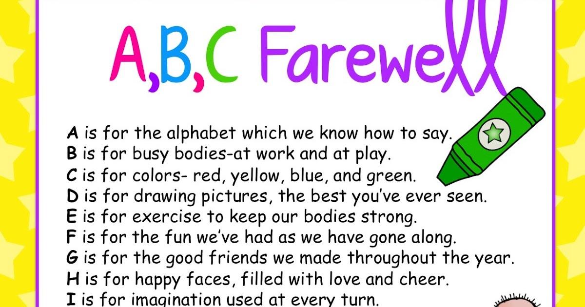 abc+farewell - Kindergarten Graduation Farewell Kindergarten