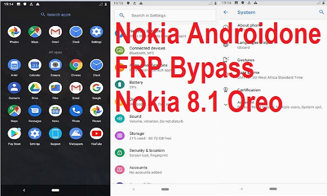 Nokia 7 Plus Android FRP bypass