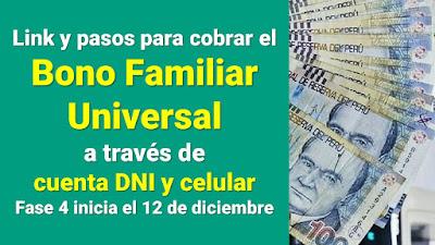 Fechas para cobrar el #BonoUniversal con tu cuenta DNI y No vayas al banco #TuBonoSinIrAlBanco