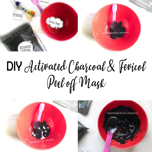 DIY Activated Charcoal & Fevicol Peel Off Mask