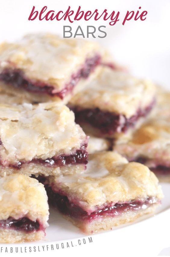 Easy Blackberry Pie Bars Recipe