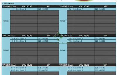 Download Aplikasi Jadwal Pelajaran Sekolah Gratis Berbasis Excel