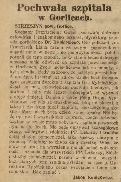 szpital Gorlice 1930