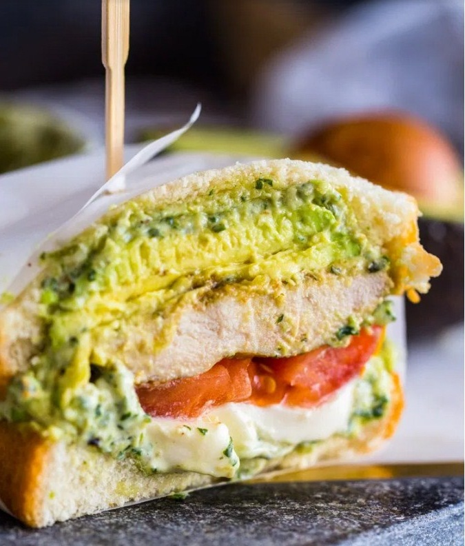 Tasty Grilled Pesto Chicken and Avocado Sandwiches