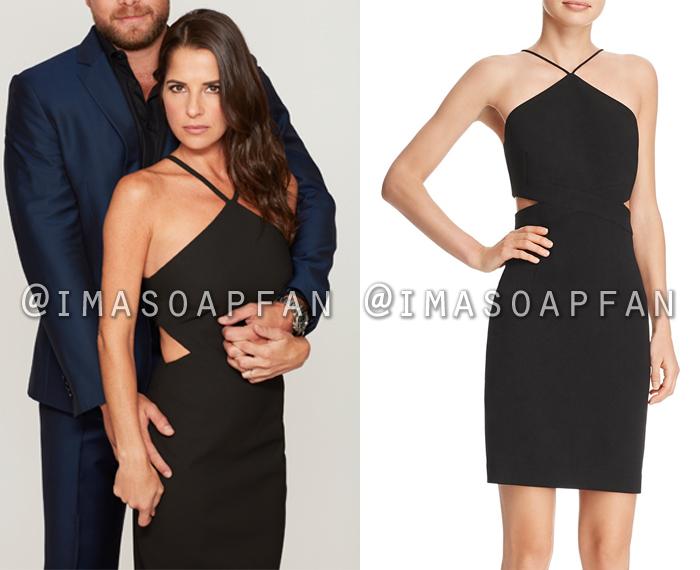 Sam Morgan, Kelly Monaco, Black Dress with Side Cutouts, General Hospital, GH