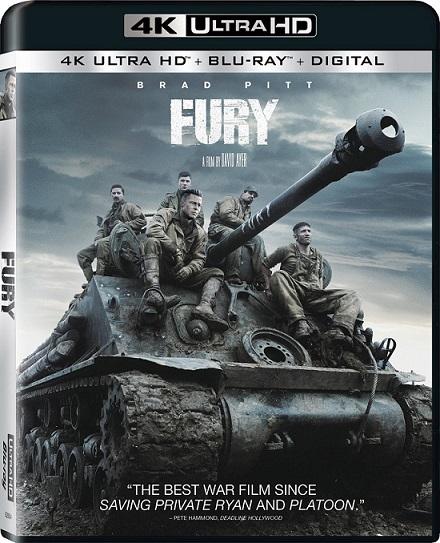 Fury 4K (Corazones de Hierro 4K) (2014) 2160p 4K UltraHD HDR BluRay REMUX 62GB mkv Dual Audio Dolby TrueHD ATMOS 7.1 ch