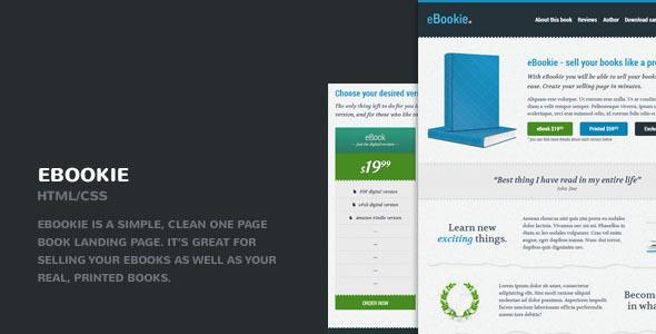Download eBookie Responsive Book Selling HTML Landing Page