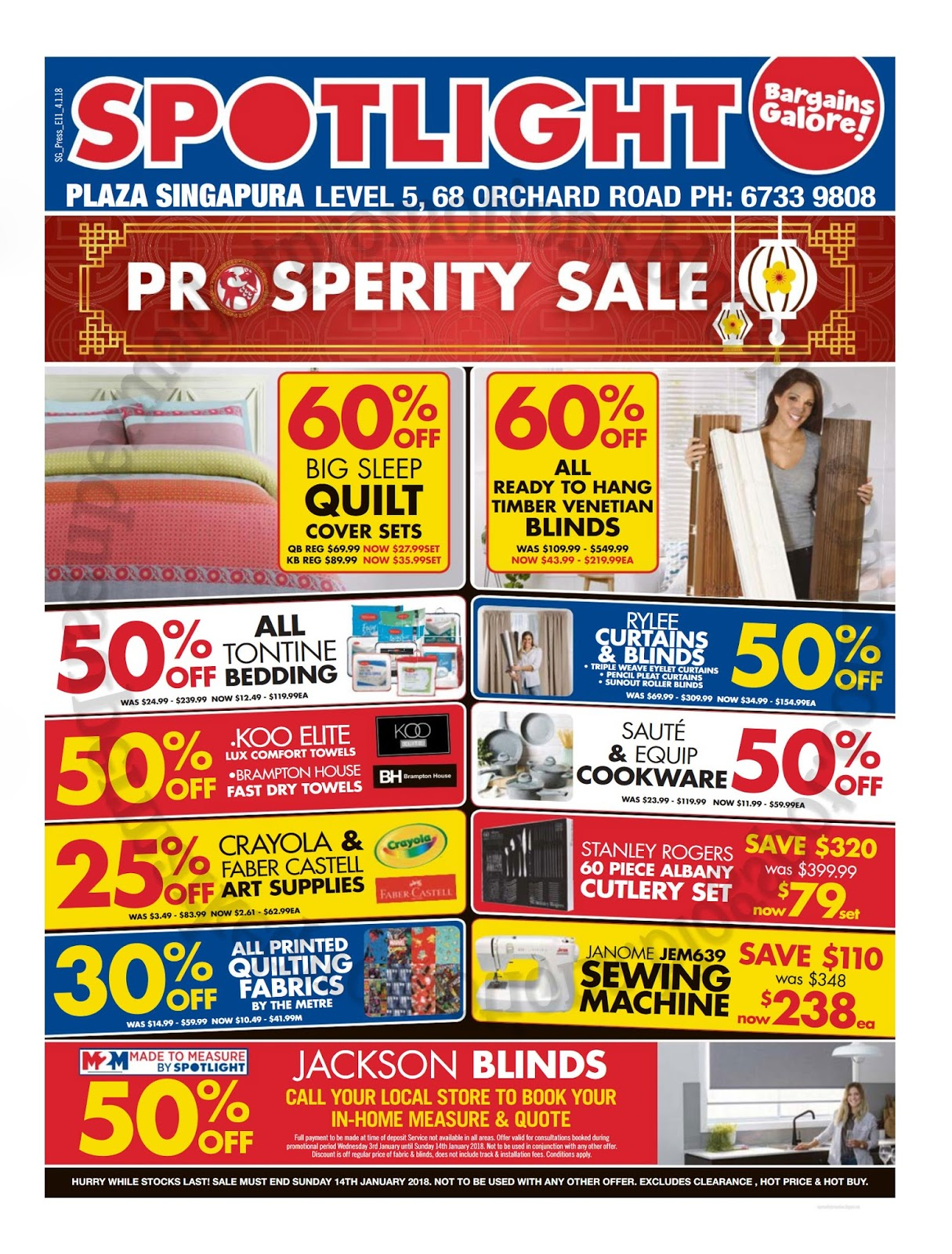 Spotlight Timber Venetians Spotlight Prosperity Sale 04 14 January 2018 Supermarket