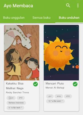 buku pada aplikasi Let's Read dapat diunduh