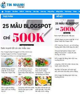 Giao diện tin tức trong ngày - Theme Blogspot - Blogspotdep.com