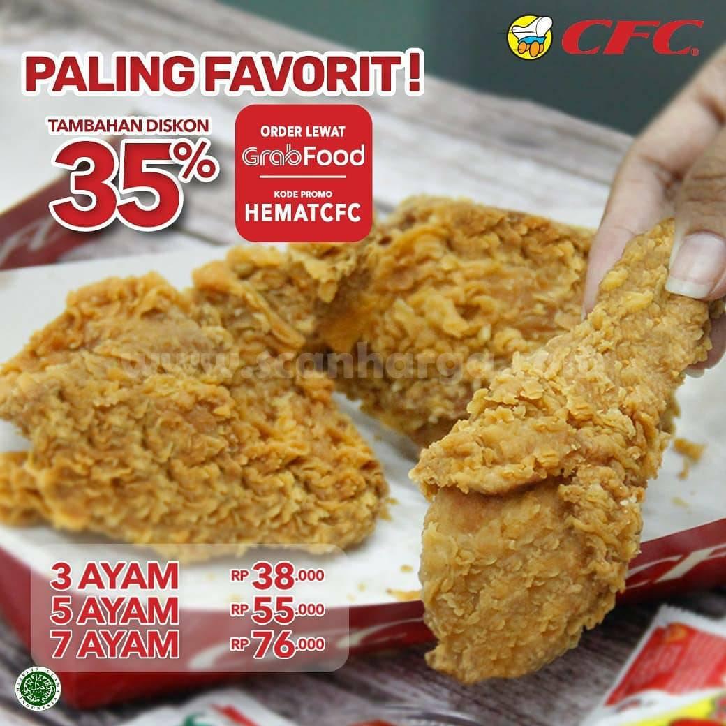 CFC Promo Paket Ayam Goreng Diskon 35% pemesanan via Grabfood