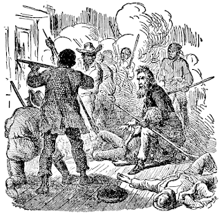 drawing of John Brown at Harper's Ferry from wpclipart.com