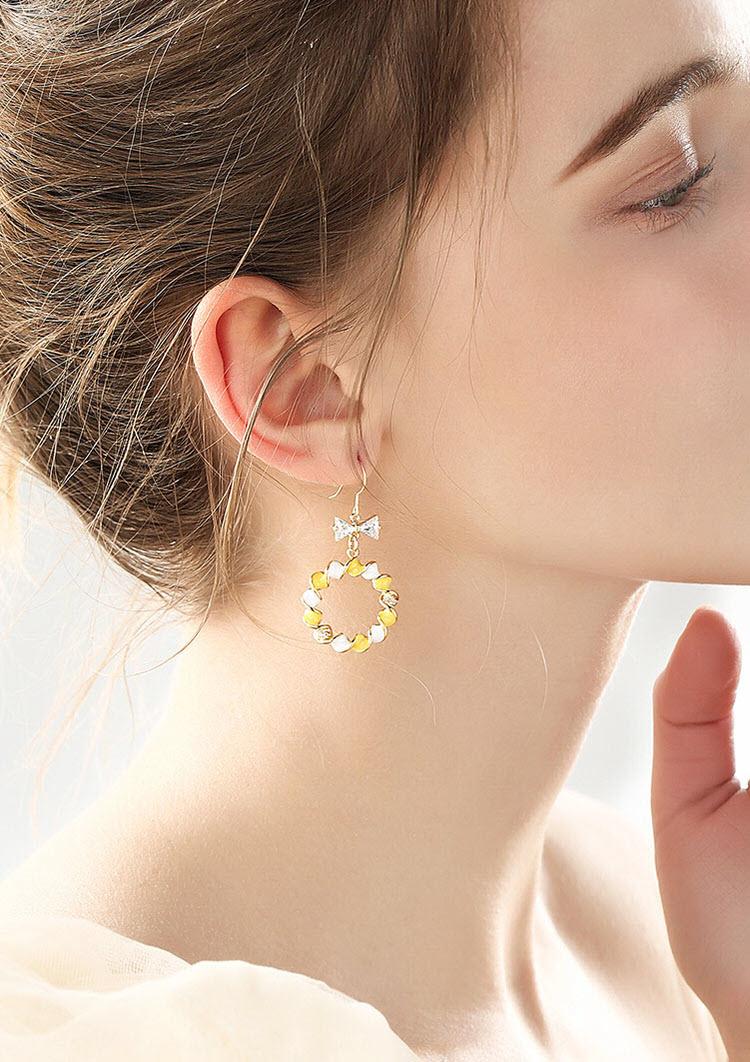 美夢交織水鑽鋯石耳環