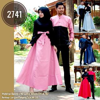 BAJU COUPLE MODEL GAMIS BAHAN BALOTELLY HQ PRIA LENGAN PANJANG T2741