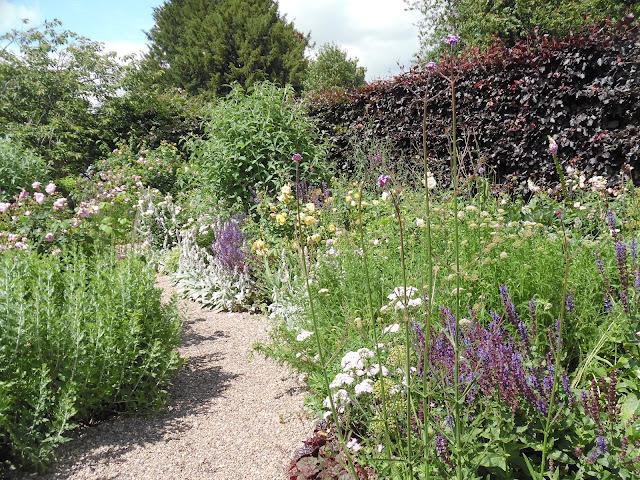 ogród bylinowy, żwirowa ścieżka