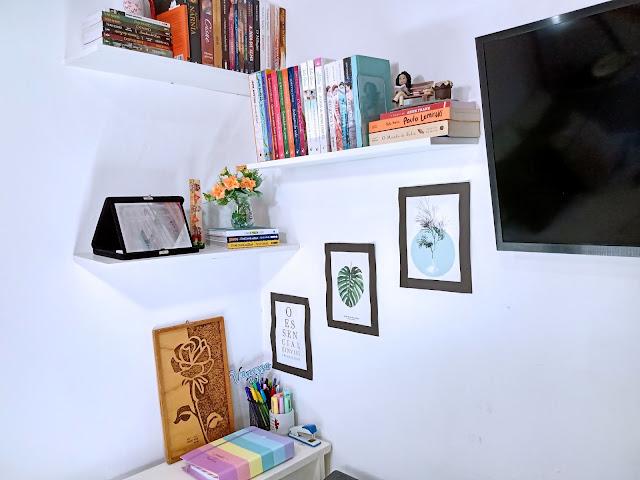 Imagens de uma leitura, Projeto Fotográfico, fotografia e literatura, leituras, Estante de livros, quarto com livros, Home oficce