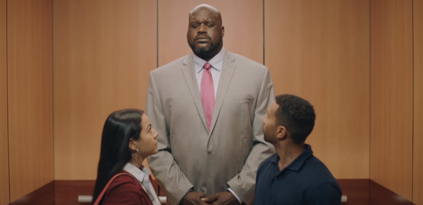 Shaquille oneal larger than life elevator nba playoffs shaquille oneal larger than life elevator nba playoffs commercial mozeypictures Gallery
