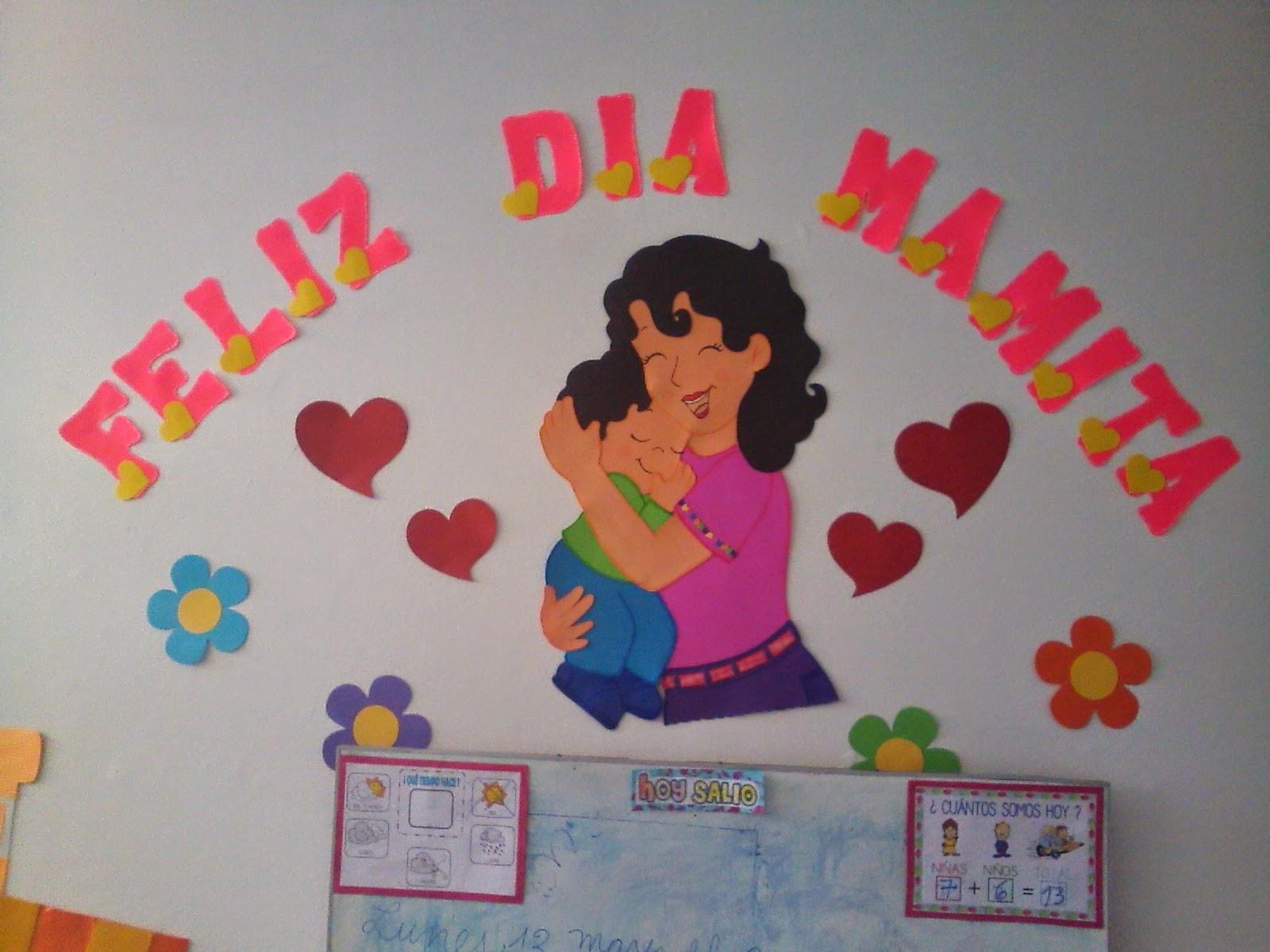 Linda Ambientación para el aula en el Día de la Madre