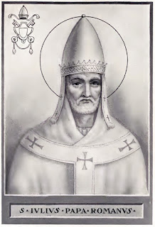 Pope Julius I chose 25 December as a celebration of the birth of Christ