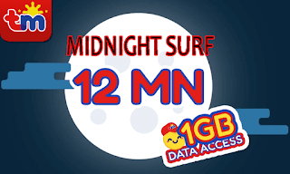 TM Midnight Surf 10 or MDSURF10 – 1GB Data for only 10 Pesos