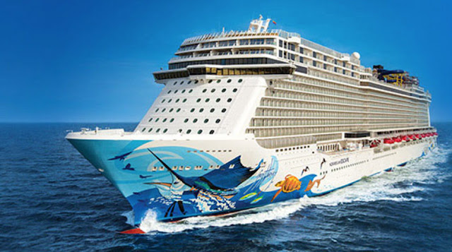 Norwegian Cruise Line's Norwegian Escape Heading From Manila to Singapore.