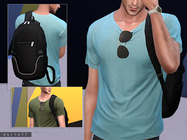 Short Sleeve Tee (Glasses and Backpack)