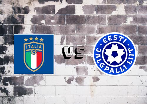 Italia vs Estonia  Resumen