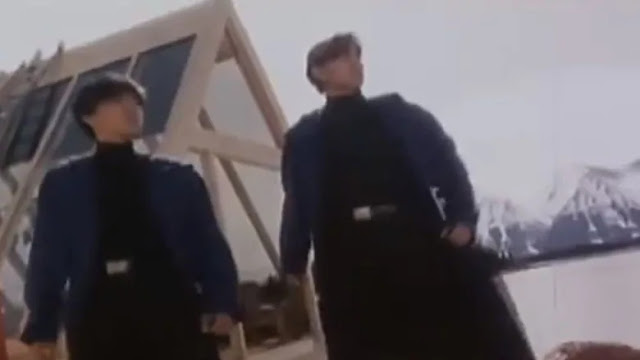 A scene from Saviour of the Soul 2, a 1992 action film shot largely in and around Atlin, B.C. The film was screened in the community last week for the first time in decades. (Youtube)