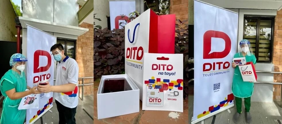 DITO Telecommunity Distributes Phones and Free services to the Davao City Front Liners