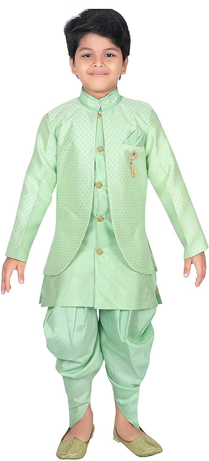 AHHAAAA Kids Ethnic Wear Waistcoat, Indo Western Sherwani and Dhoti Pant for Boys