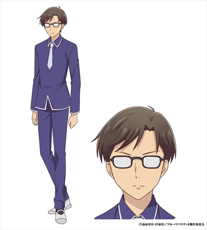 Fruits Basket anime (2019) - Makoto Takei (Jun Fukushima)