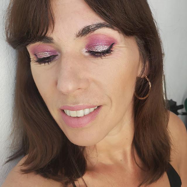 look con purpurina
