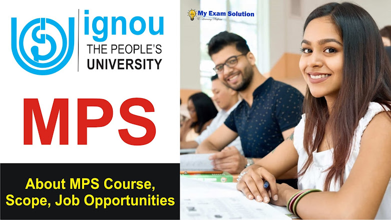 IGNOU MPS Scope; Job Opportunities after IGNOU MPS