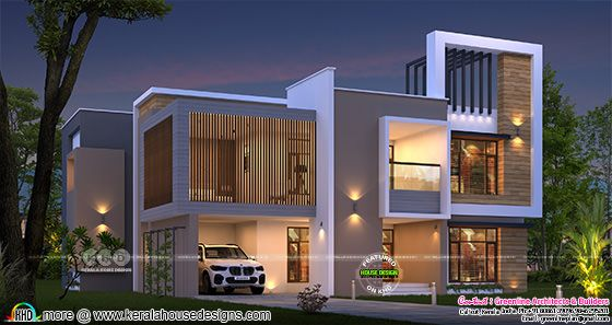 Awesome contemporary style Kerala home design