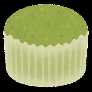 蒸しパンのイラスト(緑)