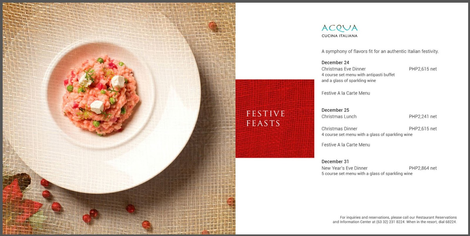 Rossini Cucina Italiana Ridgeland Menu Shangri La S Mactan Resort And Spa Offers Delish Noche Buena And