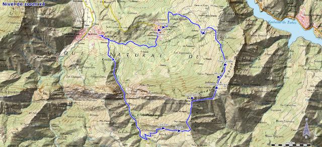 Mapa ruta Cuyargayos