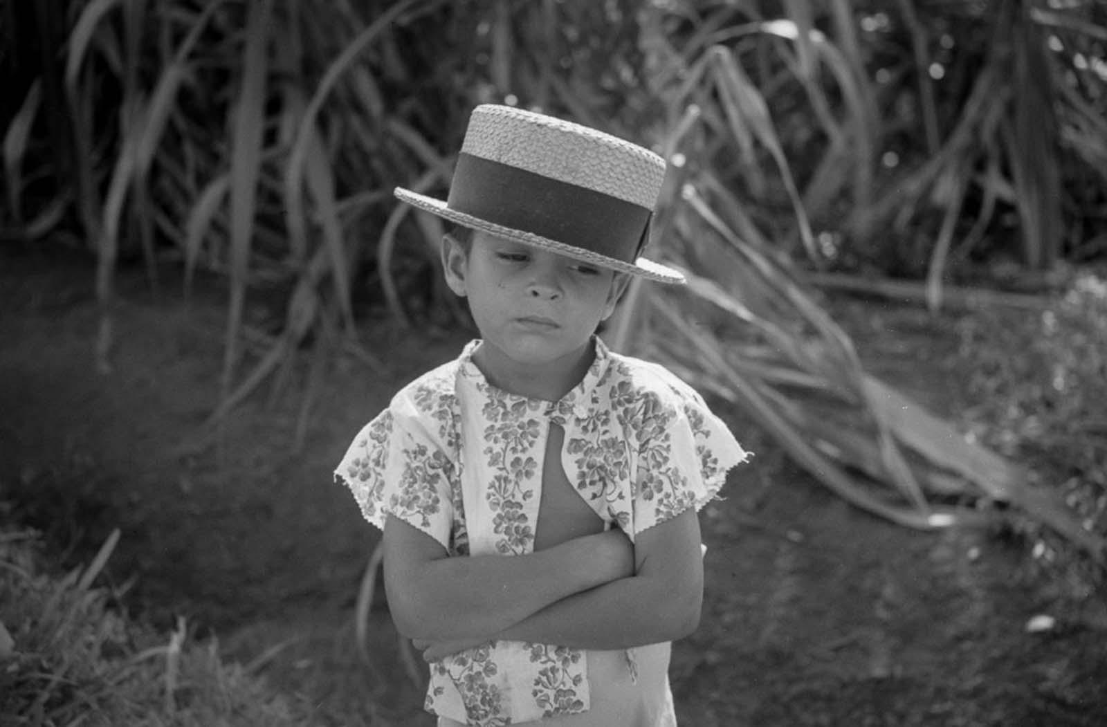 A boy on the road near Corozal.