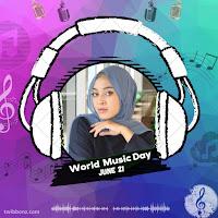 Gambar Twibbon Hari Musik Sedunia 21 Juni